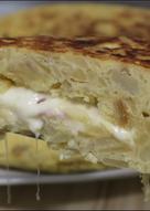 Tortilla rellena de jamón y queso | Tortilla Sándwich