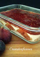 Postre con queso fresco y mermelada casera de brevas