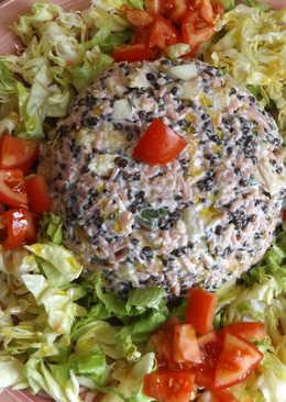 Ensalada de arroz pink y lentejas caviar