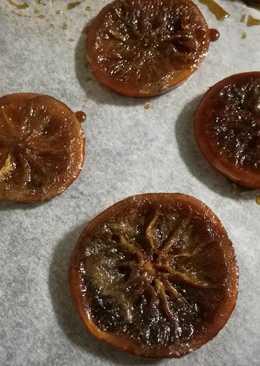 Naranjas confitadas con azúcar moreno o panela
