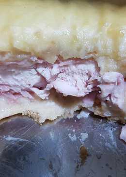 Pastel de pan bimbo con pollo, j.york, queso, bechamel..🍞🍴
