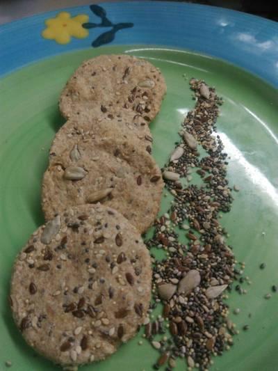 Galletitas integrales con semillas