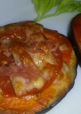 Berenjena estilo minipizza