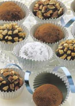 Trufas Navideñas🎅de chocolate 🍫 negro