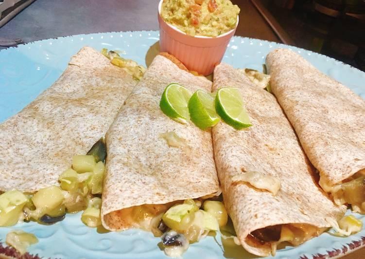 Quesadillas con verduras y jalapeños al estilo tex-mex🌶🥑🇲🇽