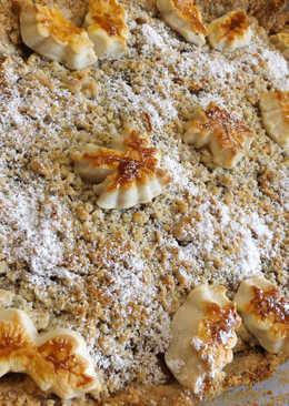 Pastel de manzanas con streusel de semillas de amapola
