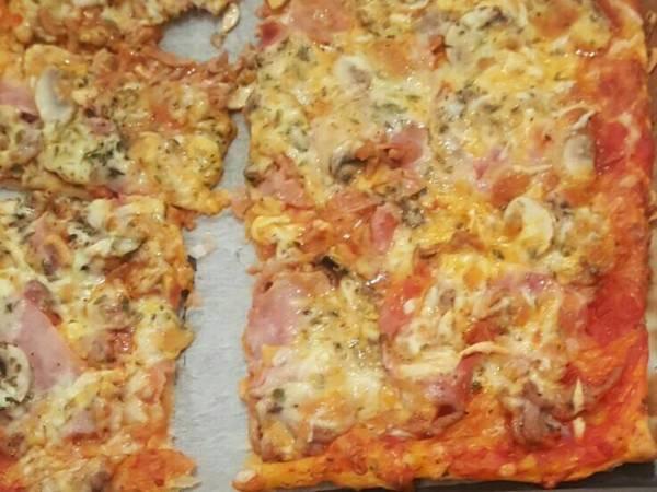 Pizza masa hojaldre