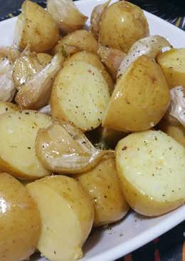 Patatas nuevas al tomillo y limón