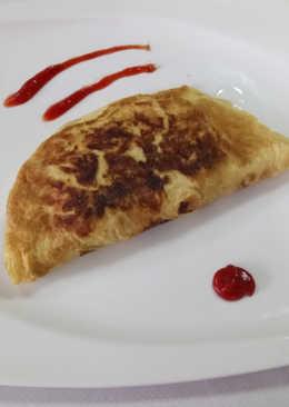 Tortilla rellena gratinada