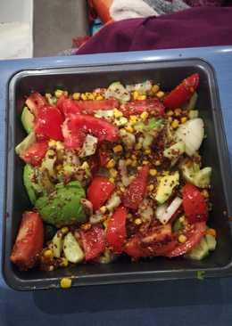 Ensalada de tomates improvisada