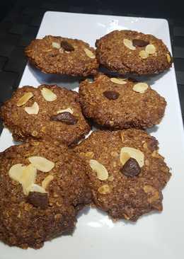 Cookies de almendras y chocolate