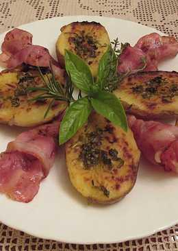 Patatas gratinadas con beicon ahumado