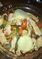 Pechuga de pollo al horno con verduras
