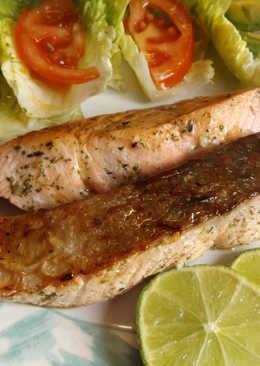 Salmón crujiente para dieta