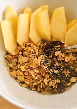 Almuerzo saludable con granola