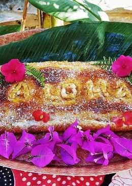 Pastel hojaldrado de piña y queso Aloha Hawaii