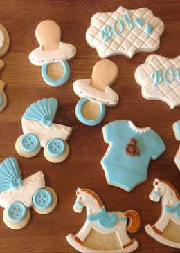 Galletas de vainilla para decorar (baby shower)