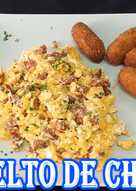 Revuelto de huevos con chorizo (genial para acompañamiento)