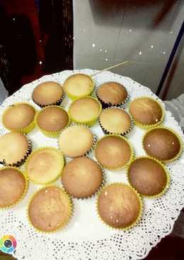 Muffins de miel rellenos de dulce de leche.🍯
