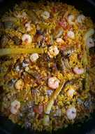 Arroz de verduras de temporada (alcachofas y ajos tiernos)