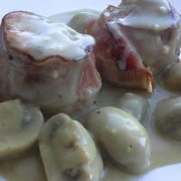Solomillo en salsa de champiñones