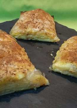 Napolitanas de pera y crema pastelera