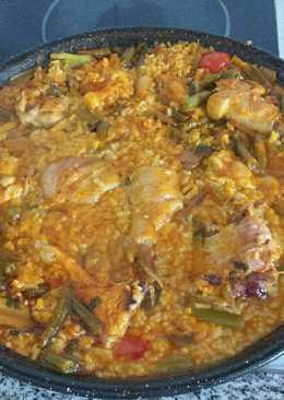 Arroz y pollo con verdura