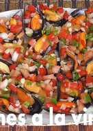 Mejillones a la vinagreta (receta rápida y navideña)