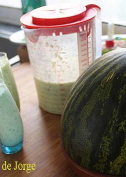 Gazpacho de pepino y melón