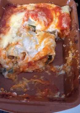 Macarrones grandes rellenos de carne picada o falsos canelones