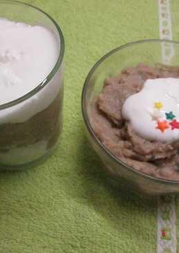 Crema de caramelos sin azúcar con falsa nata