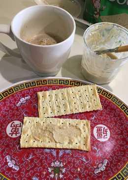 Mantequilla de nueces y coco rallado