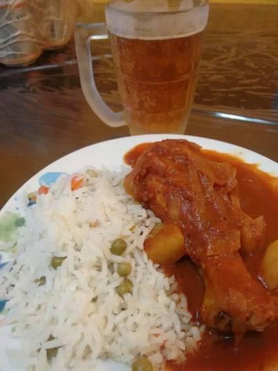 Pollo a la cerveza (sin horno)