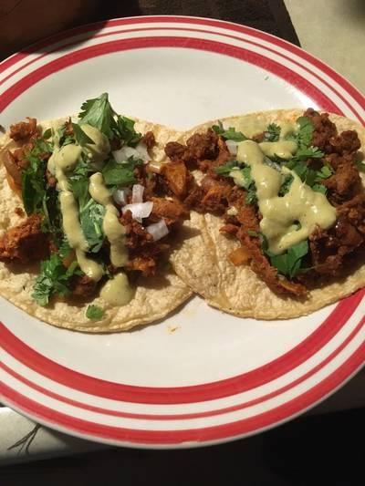 Tacos al pastor de soya