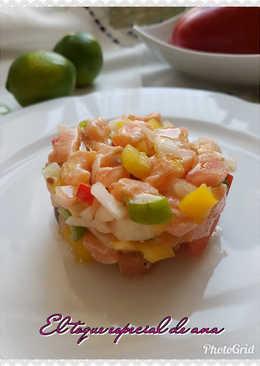 Ceviche con salmón
