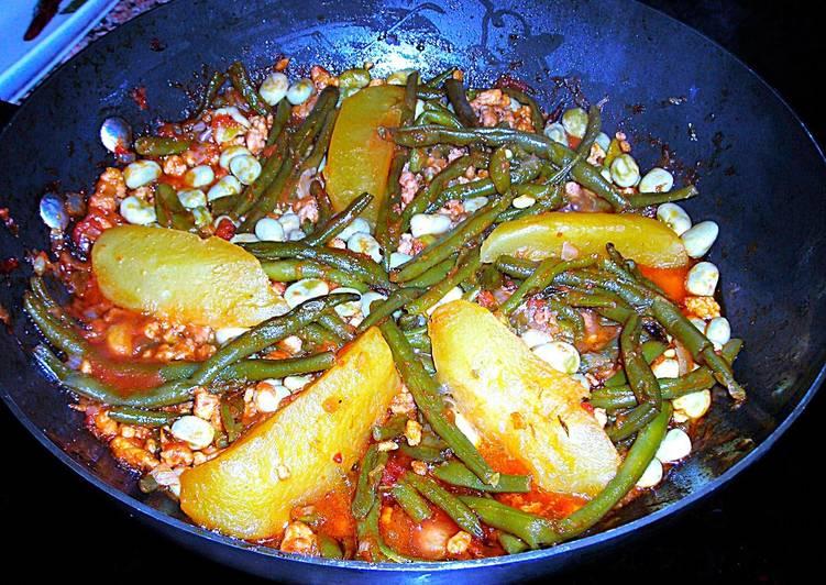 Guiso de jud as verdes con soja texturizada granulada for Cocinar judias verdes de bote