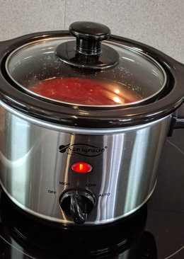 Salsa de tomate en cocina lenta