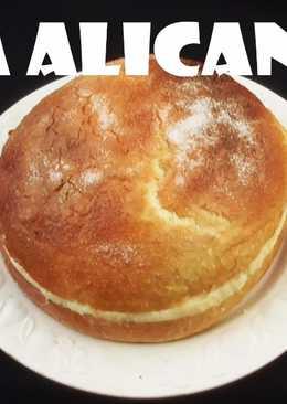 Toña alicantina (rellena de crema pastelera)