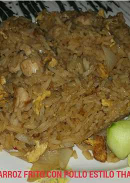 ☆ arroz frito con pollo estilo thai☆