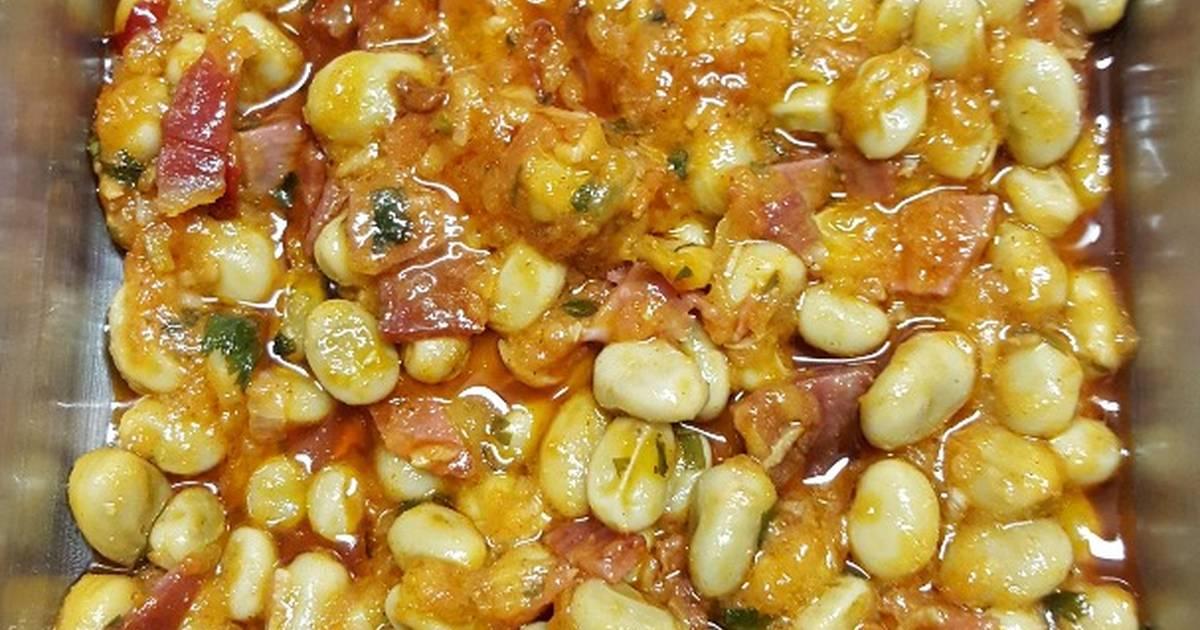 Habas con jamon receta de paqui m rquez santisteban cookpad for Cocinar habas con jamon