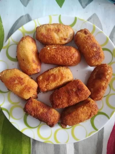 Croquetas de pollo asado🍗