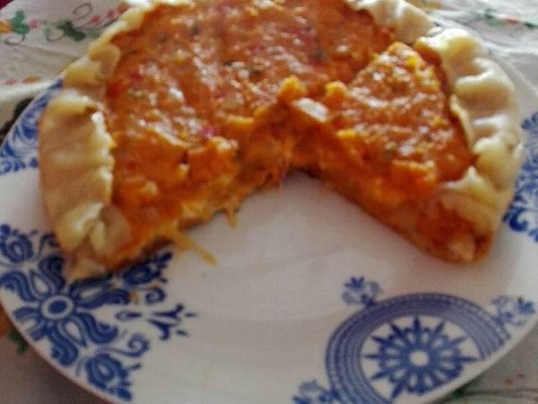 Tarta de calabaza, zanahoria y queso