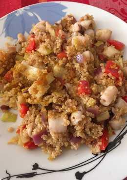 Quinoa chipirón y verduras