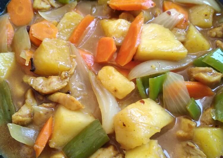 Curry de piña 'recetas saludables para diabetes'