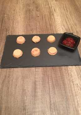 Bombones de queso de cabra con mermelada de tomate