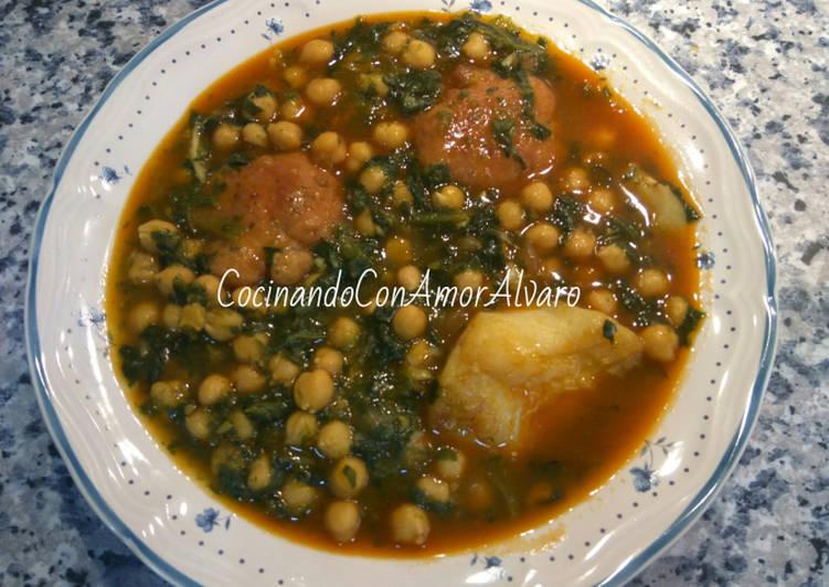 Potaje de garbanzos con bacalao y espinacas receta de - Potaje garbanzos con bacalao ...