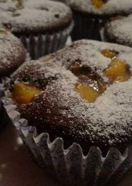 Muffins de chocolate y duraznos apto celíacos