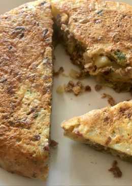 Tortilla de patata y ternera