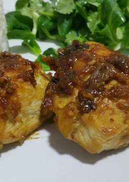 Pollo con salsa agridulce picante
