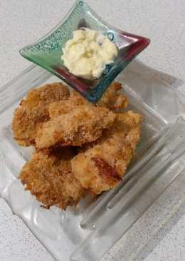 Pechuguitas de pollo crocantes con mayonesa de jengibre